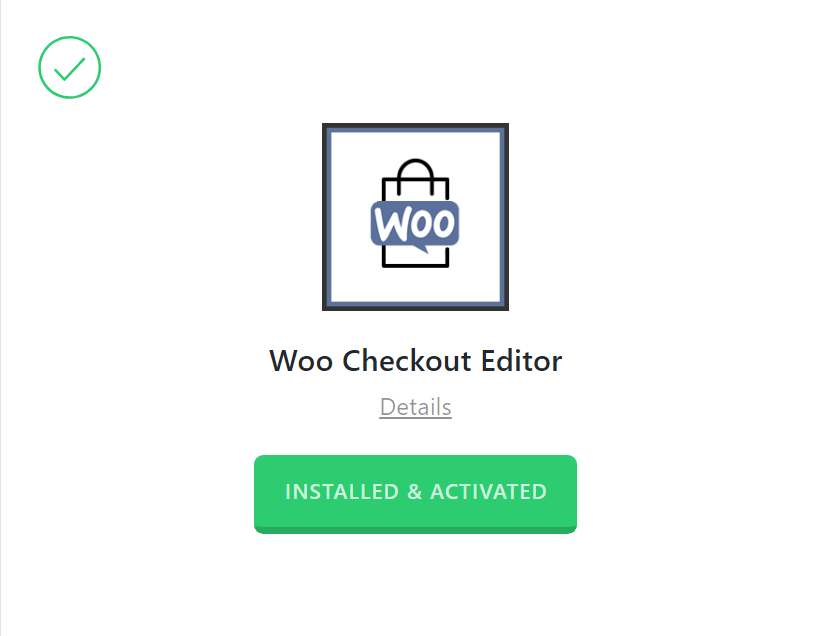 Woo Checkout Editor Activated