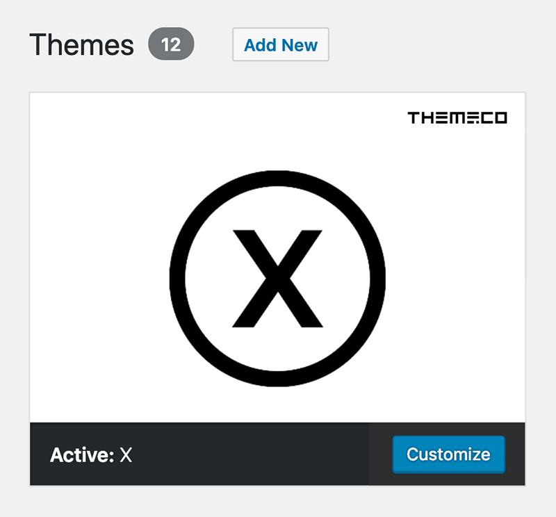 "WordPress ""Add New"" Theme Button"