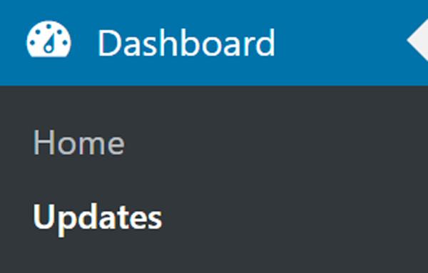 Dashboard > Updates