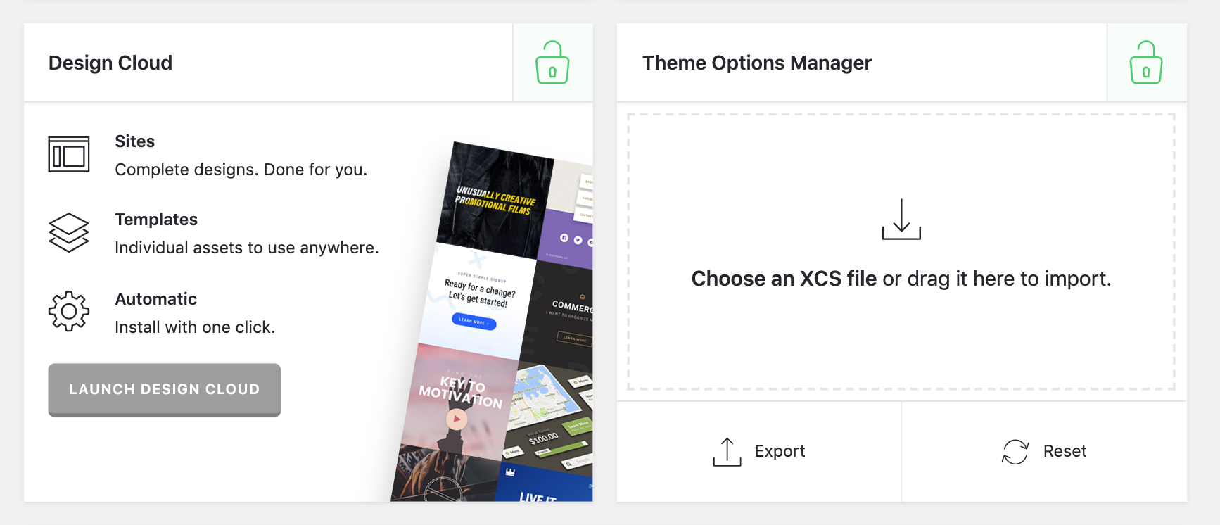 X / Pro Extensions Section