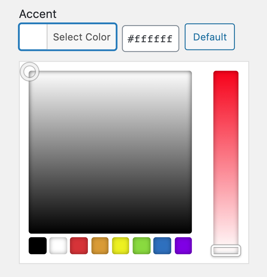 Ethos Category Accent Settings