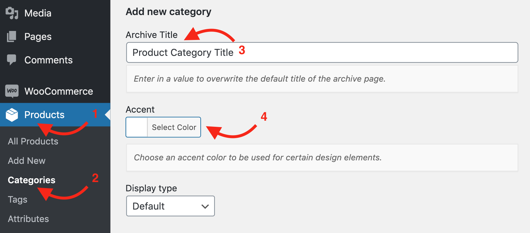 Product Category Settings