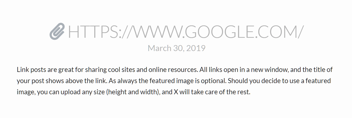 Link Post Example