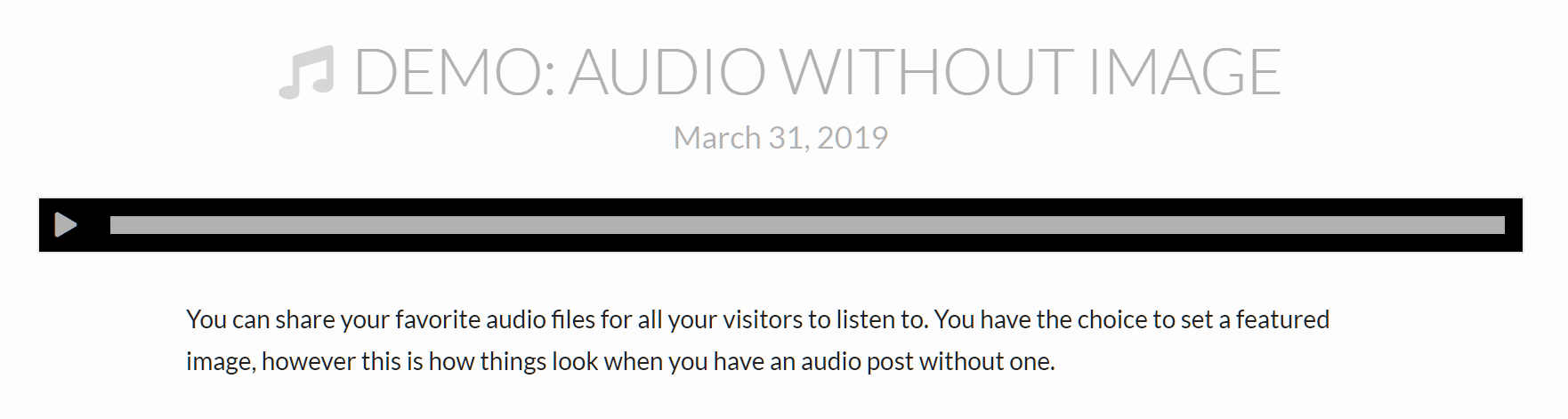 Audio Post Example