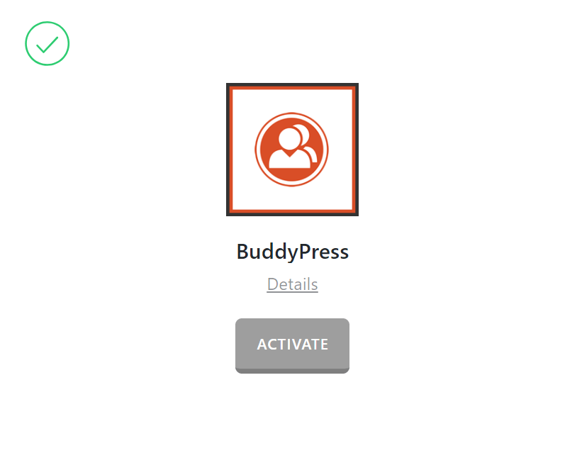 BuddyPress Activate