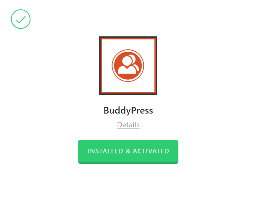 BuddyPress Activated