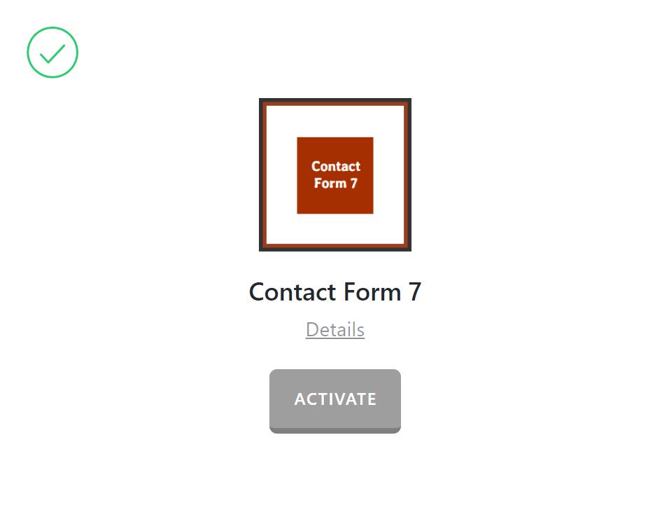 Plugins > Contact Form 7