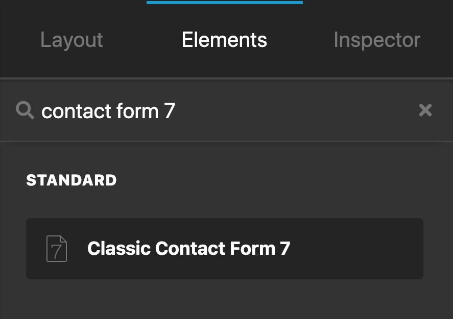 Content Builder Contact Form 7 Element
