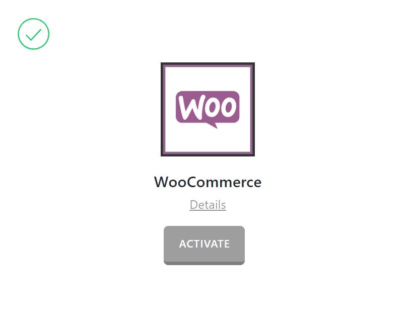 WooCommerce Activate