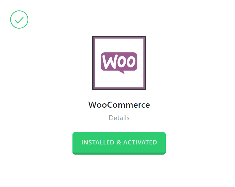 WooCommerce Activated