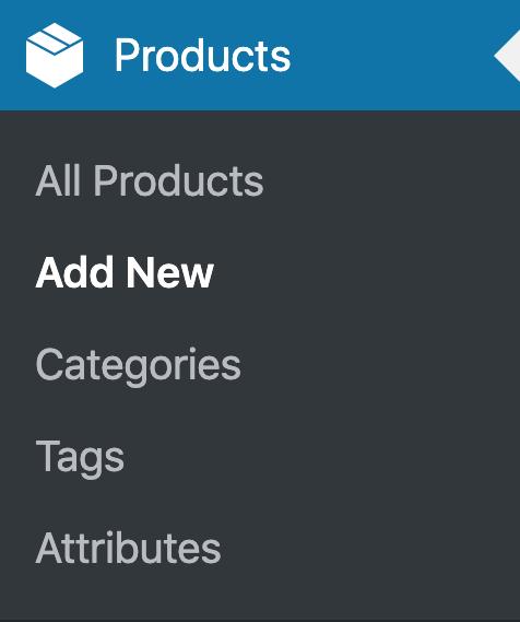 WooCommerce Product Menu