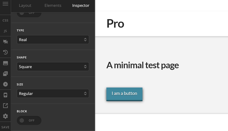 Theme Options Button Type