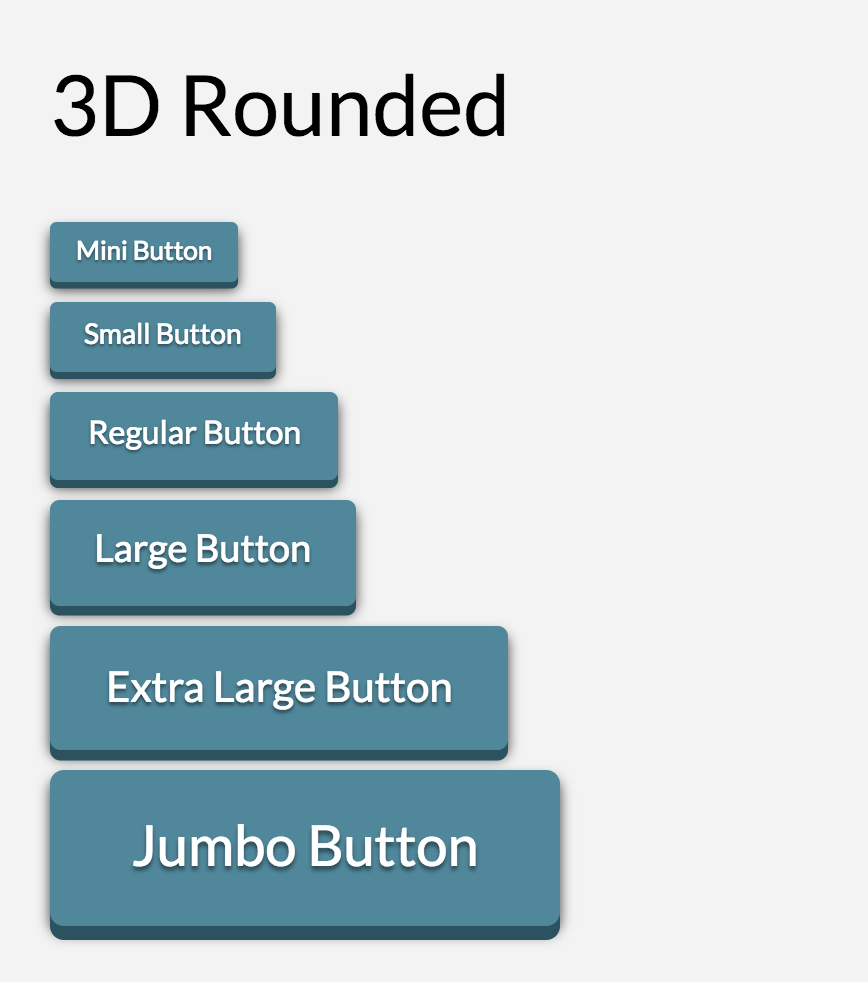 Button Shape 3D Rounded