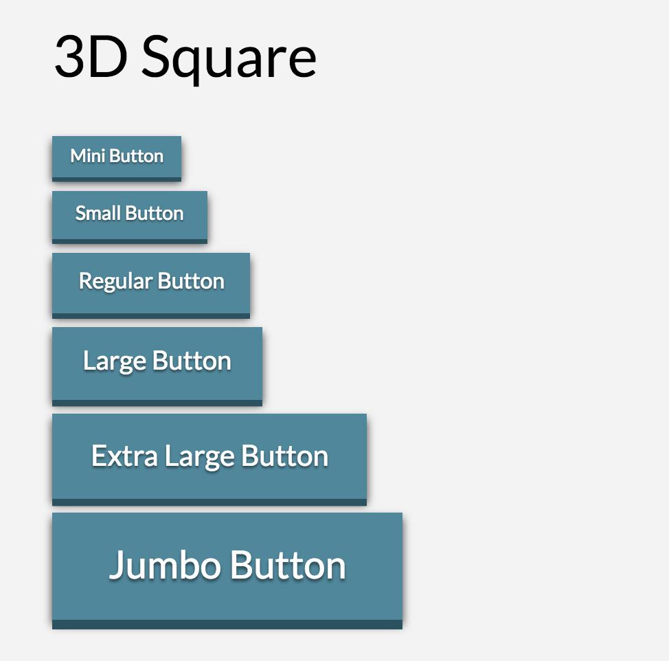 Button Shape 3D Square
