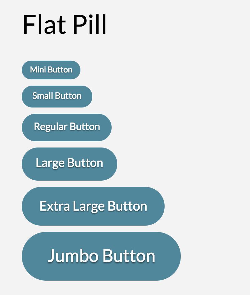 Button Shape Flat Pill