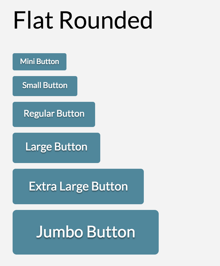 Button Shape Flat Rounded