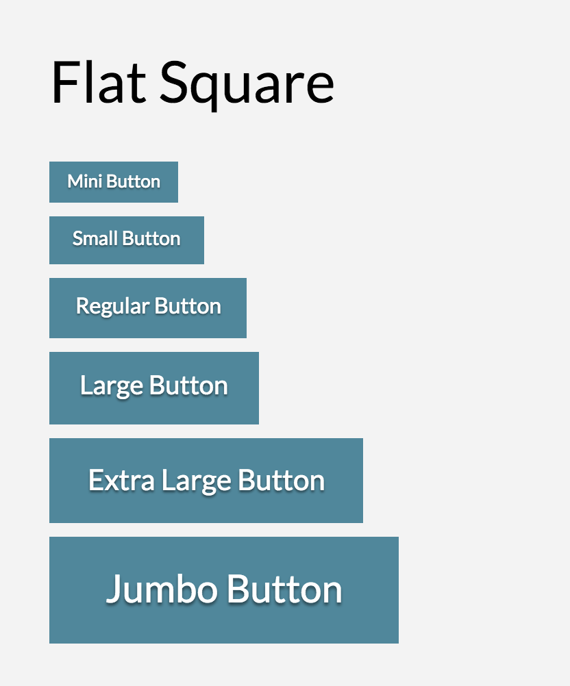 Button Shape Flat Square