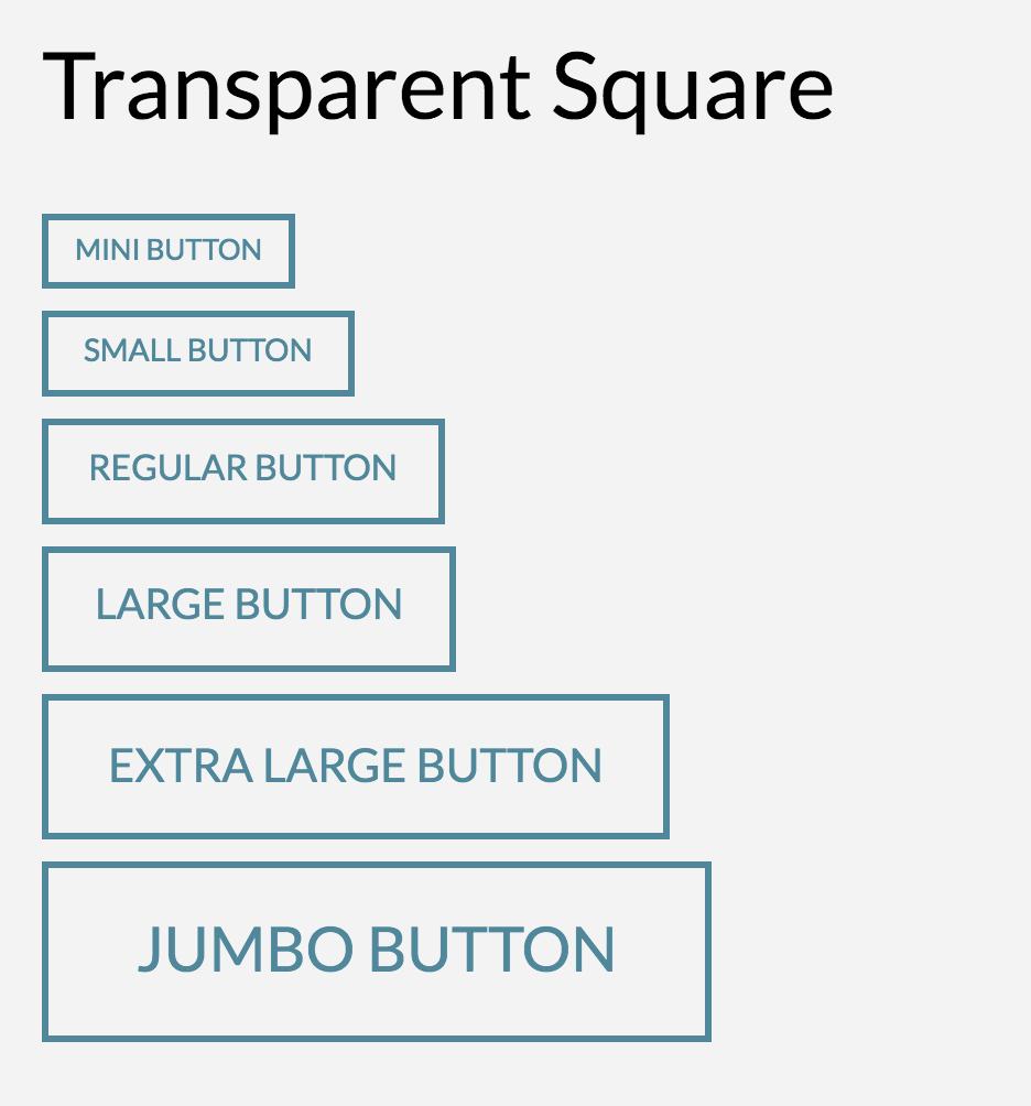 Button Shape Transparent Square