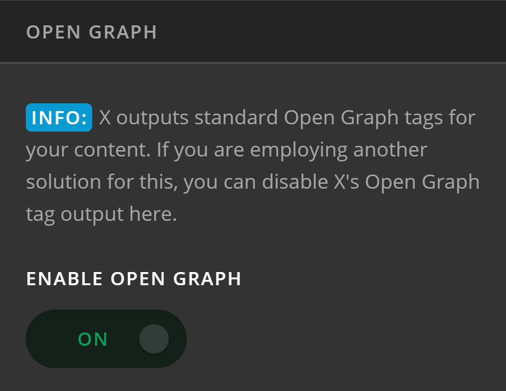 Theme Options Social Open Graph