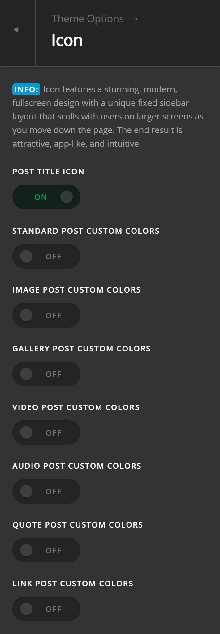 Theme Options Icon