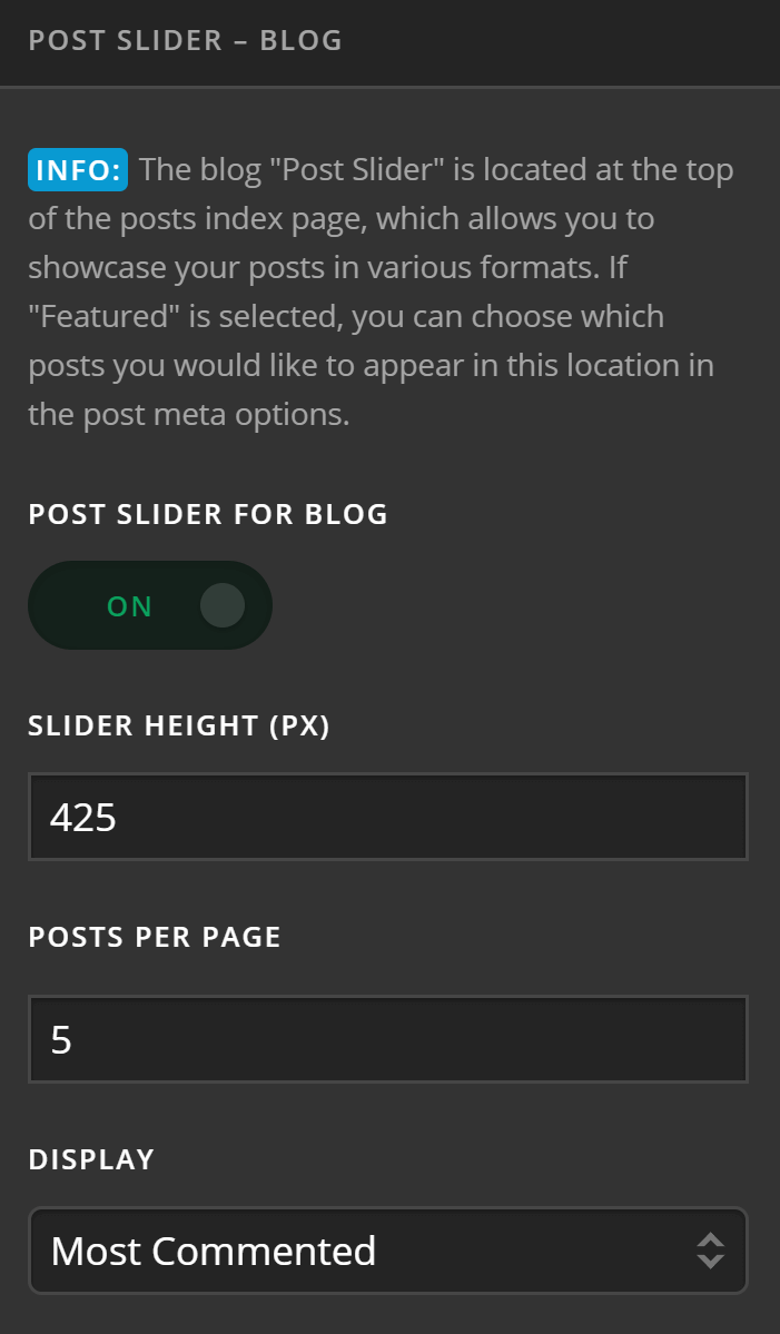Ethos Post Slider