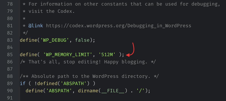 Edit Memory Limit