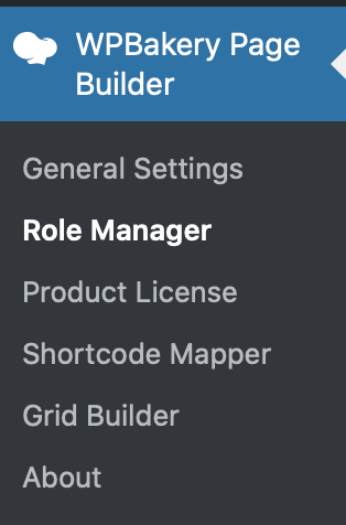 WP Bakery Page Builder Role Manager