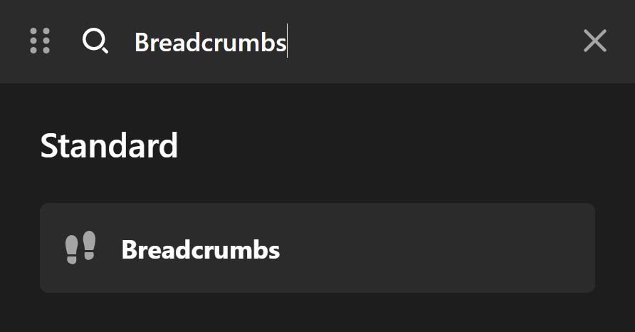 Breadcrumbs Element