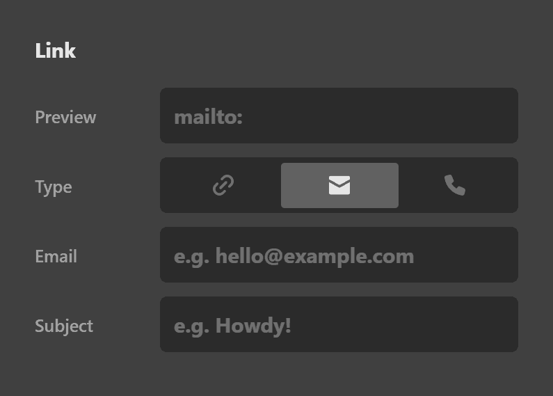 Button Mailto Link