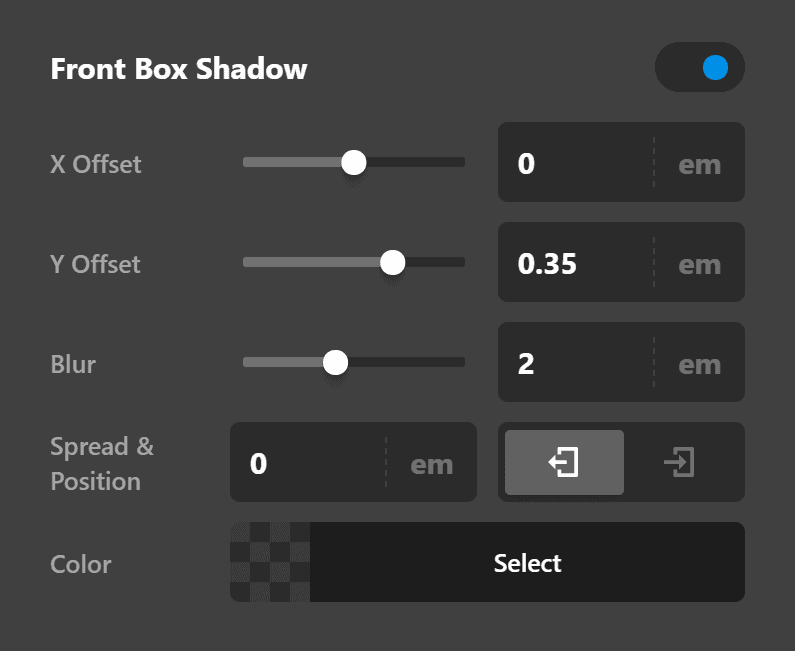 Card Front Box Shadow