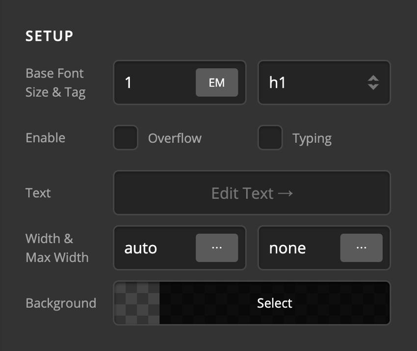 Card Front Content Setup