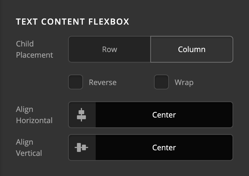Card Front Content Text Content Flexbox