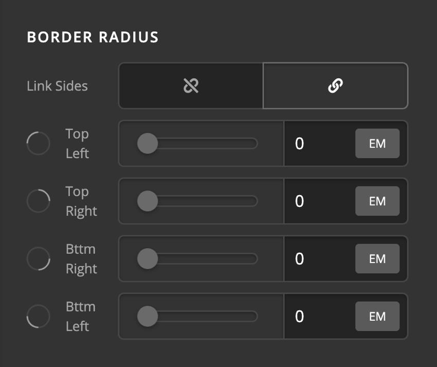 Card Front Content Border Radius