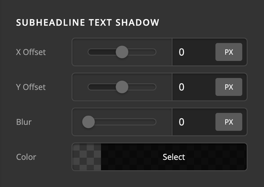 Card Front Content Subheadline Text Shadow