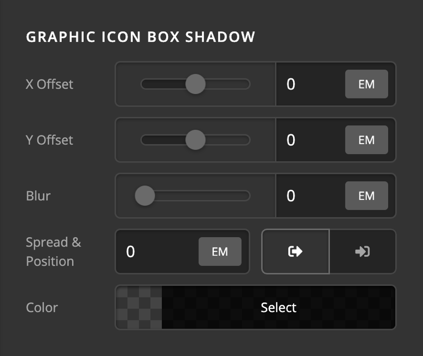 Card Front Content Graphic Icon Box Shadow