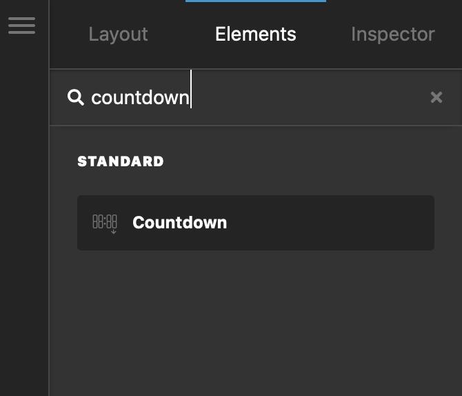 Add Countdown Element