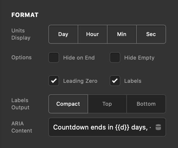 Countdown Format