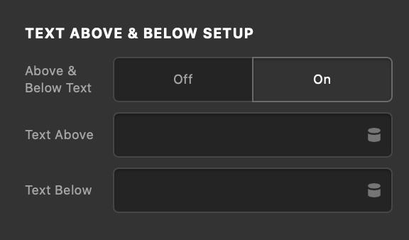 Counter Text Above & Below Setup