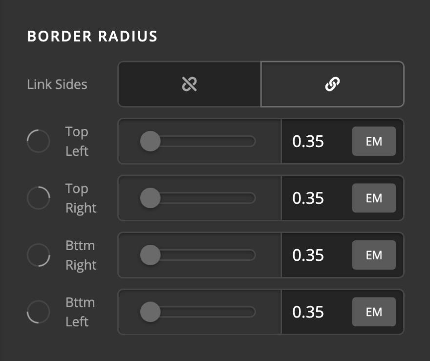 Creative CTA Element Setup Border Radius
