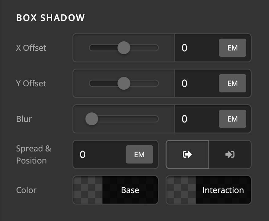 Creative CTA Element Setup Box Shadow