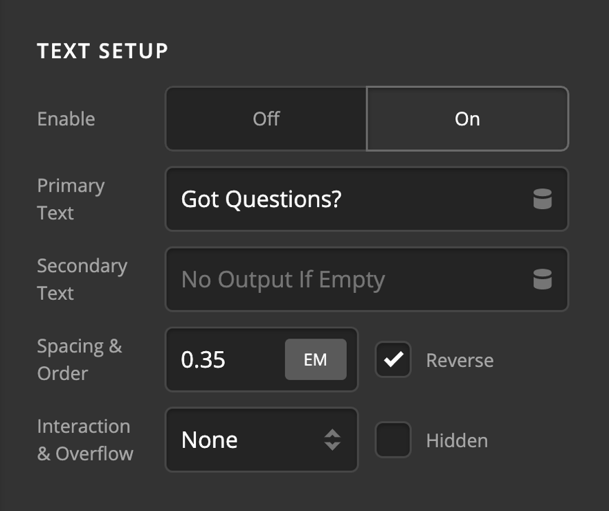 Creative CTA Text Setup