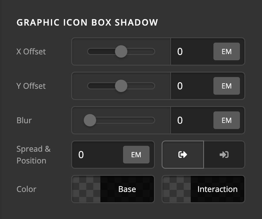 Creative CTA Graphic Icon Box Shadow