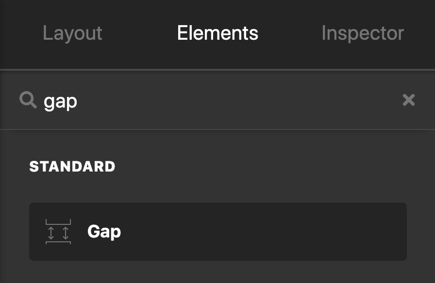 Cornerstone / Content Builder Gap Element