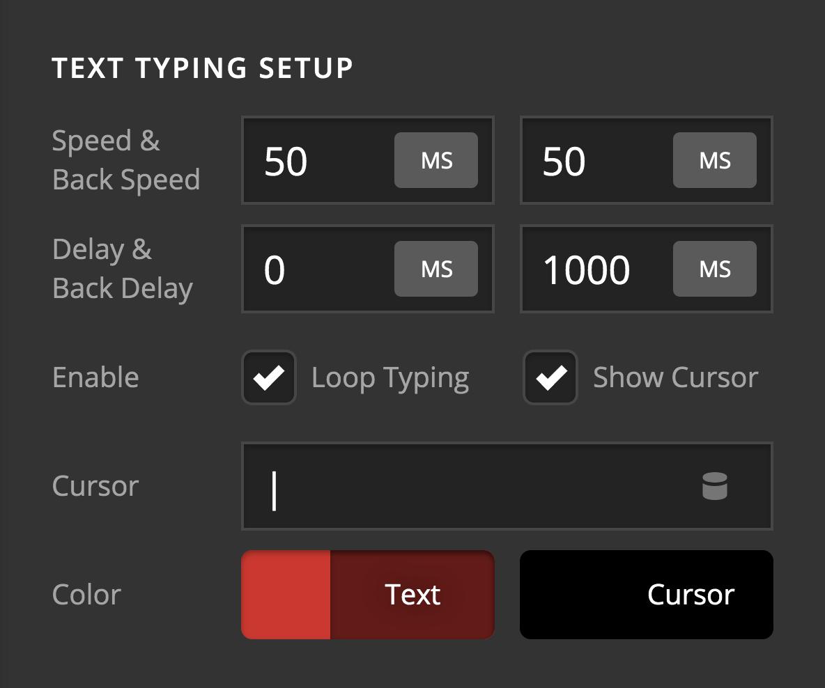 Text Typing Setup