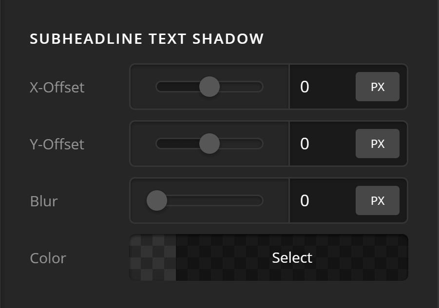 Subheadline Text Shadow
