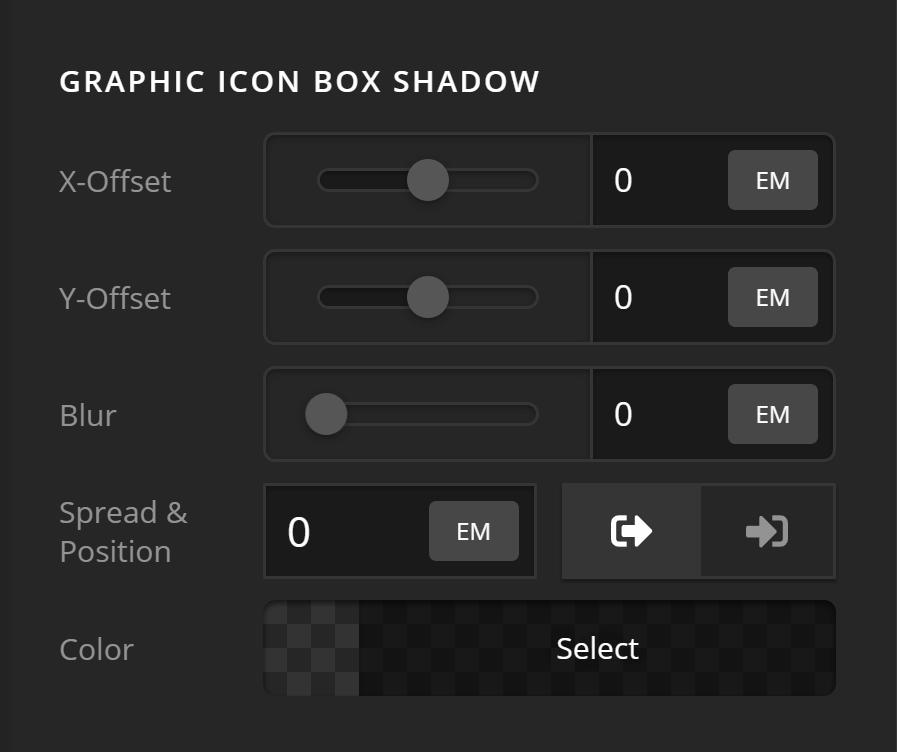 Headline Graphic Icon Box Shadow