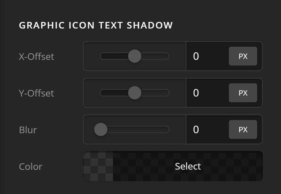 Headline Graphic Icon Text Shadow