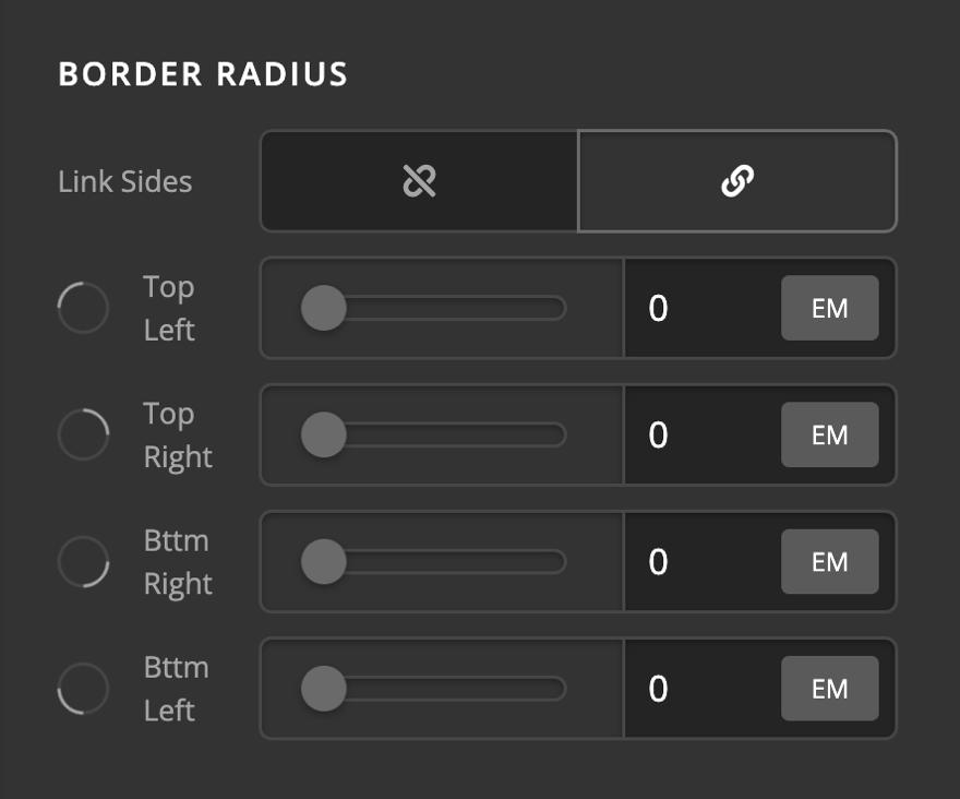 Icon Element Setup Border Radius