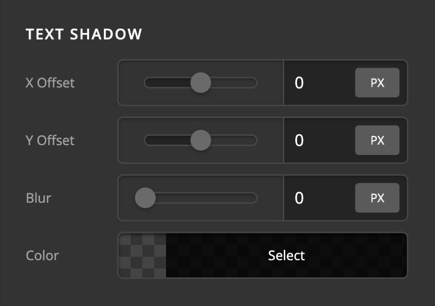 Icon Element Setup Text Shadow