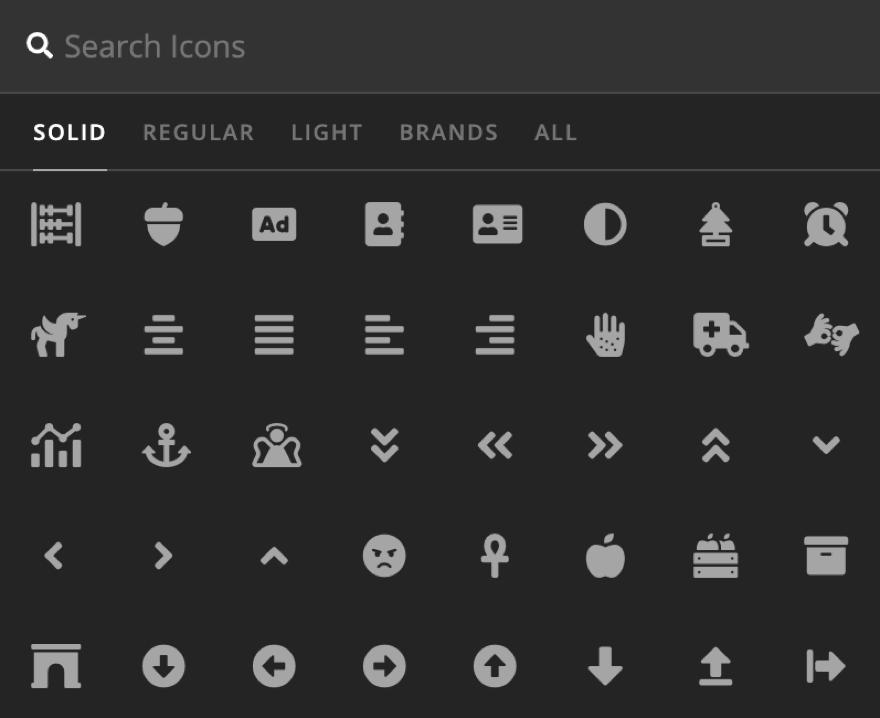 Icon Element Setup Icon
